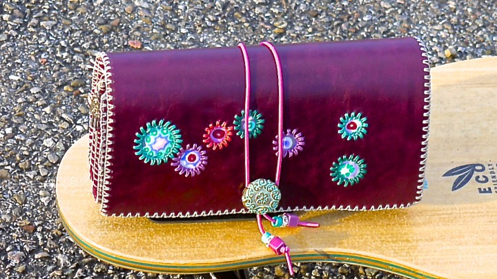 Amethyst Violetter Shopping Juwel Geldbeutel handmade